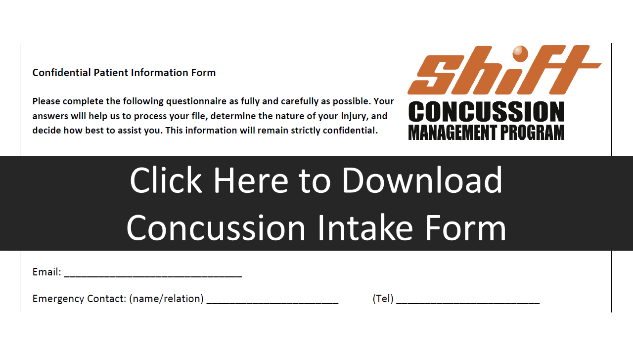 Concussion intake form