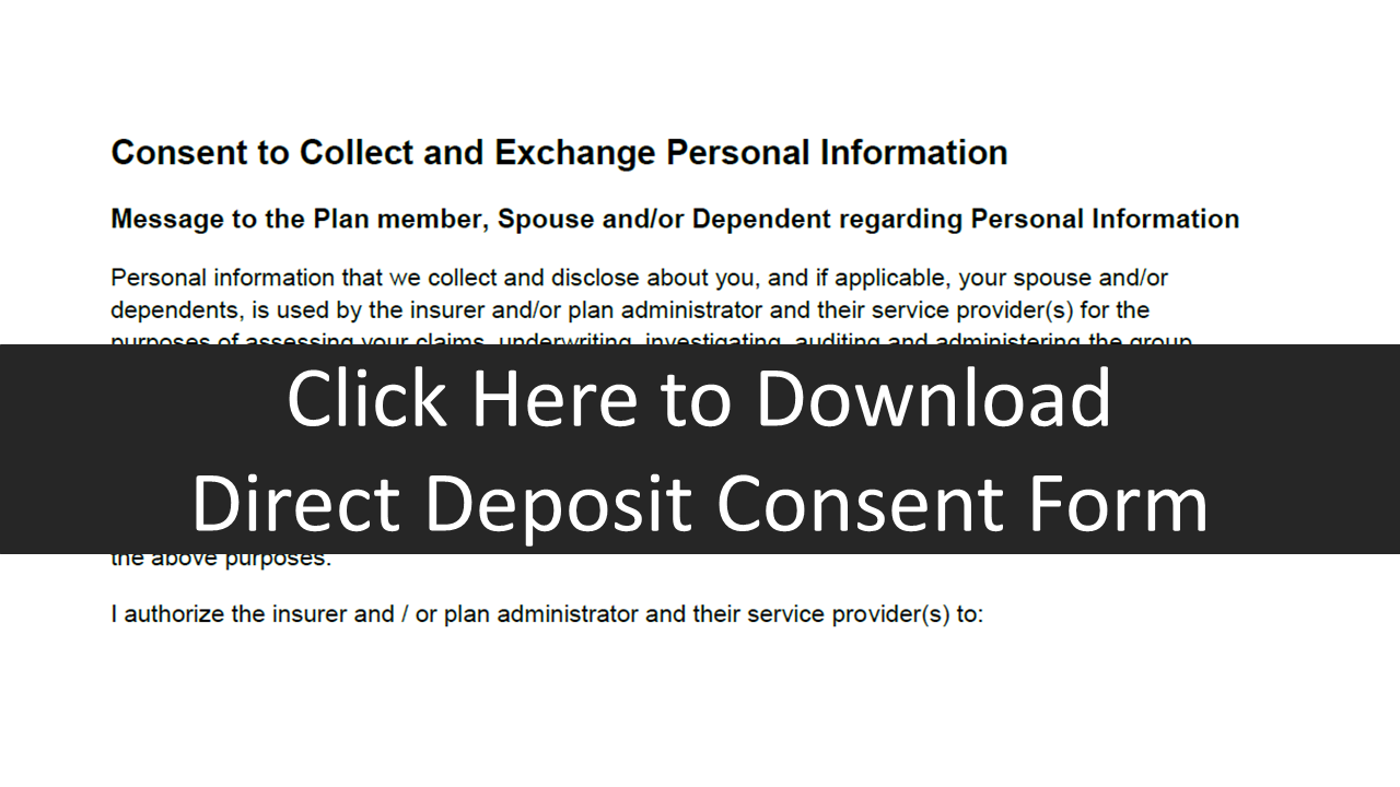 Direct Deposit Consent Form