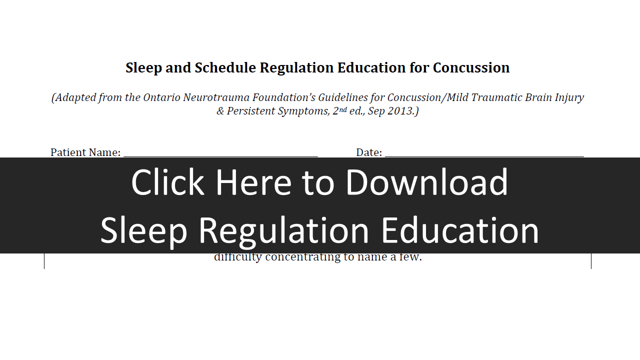 Sleep Education Regulation form